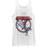 Juniors Tank Top: Deadpool- Unicorn Charge Camiseta sin mangas