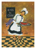 Kiss the Cook Print by Vickie Wade