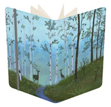 Two Deer on Forest Path Notebook