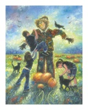 Pumpkin Patch Helping Hands Print by Vickie Wade