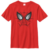 Youth: Spiderman- Web Face T-Shirt