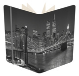 Top View Brooklyn Bridge - New York City Icons Notebook by Henri Silberman