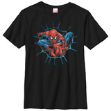 Youth: Spiderman- Jumping At You T-Shirt