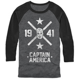 Raglan: Captain America- 1941 Hero Crossing Raglans