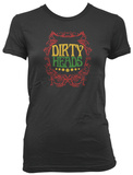 Juniors: Dirty Heads- Rasta Border T-Shirt