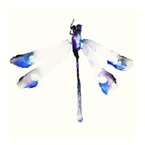 Blue & Violet Dragonfly Prints by Karin Johannesson