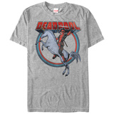 Deadpool- Unicorn Charge Tシャツ