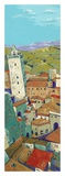 Rooftops of San Gimignano Prints by Jane Henry Parsons