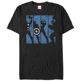 The Avengers- Avengers Silouette Panels T-shirts