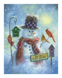 Birds Lover Snowman Posters by Vickie Wade