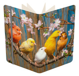 Five Canaries of Different Colours Notebook by  Reinhard