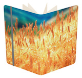Field of Organically-grown Wheat (Triticum Sp.) Notebook by Mauro Fermariello