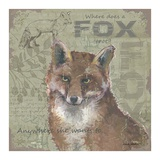 Where Does a Fox Trot Poster by Anita Phillips