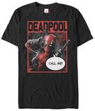 Deadpool- Call Me Tshirt