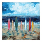 Surf Boards Prints by Stuart Roy