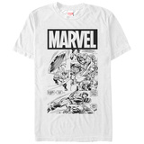 Captain America- Action In Black & White Shirts