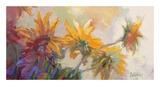 Three Long Blossoms Poster av Beth A. Forst