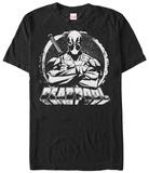Deadpool- Black & White Hero Skjorter