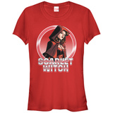 Juniors: The Scarlet Witch- Heroine In Red T-Shirt