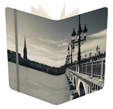 Pont De Pierre Bridge across Garonne River, Bordeaux, Gironde, Aquitaine, France Notebook by Green Light Collection