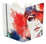 Abstract Woman Portrait Notebook by Anna Ismagilova