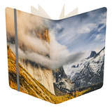 Waiting to be Found, Foggy El Capitan, Yosemite Valley Notebook by Vincent James
