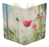 Red Poppy in Field Notebook by Laura Evans