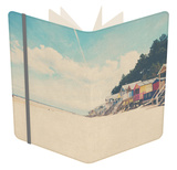 Beach Huts in England Notebook by Laura Evans
