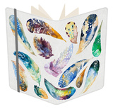 Hand Drawn Watercolor Feather Set. Iillustration Isolated on Whi Notebook by  Kris_art