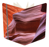 Antelope Canyon Abstract - Tri Color Notebook by Vincent James