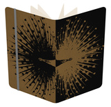 Gold and Black Peacock Notebook