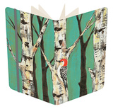 Birch Grove on Teal II Notebook by Jade Reynolds