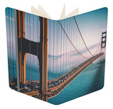 Afternoon Crossing, Golden Gate Bridge - San Francisco Notebook by Vincent James