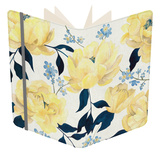 Fleurs D'or et Bleu I Notebook by Grace Popp