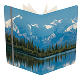 The Rugged Snow-Covered Peaks of the Alaska Range and Shore of Wonder Lake Notebook by Howard Newcomb