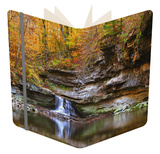 Autumn waterfall in McCormics Creek State Park, Indiana, USA Notebook by Anna Miller