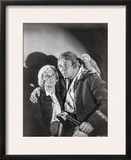 Treasure Island Movie Scene in Black and White with a Parrot Framed Photographic Print by  Movie Star News