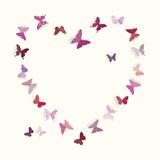 Butterfly Heart II Giclee Print by Sasha Blake