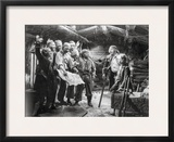 Treasure Island Movie Scene with a Man Talking to a Crowd Framed Photographic Print by  Movie Star News