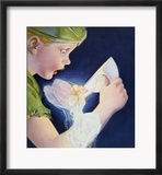 Book Illustration of Tinkerbell Saving Peter Pan by Roy Best Indrammet giclee-tryk