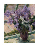 Lilacs in a Window, c.1880 - 1883 Premium Giclee Print by Mary Stevenson Cassatt