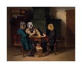 Les joueurs de cartes Premium Giclee Print by Thierry Poncelet