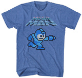 Mega Man- 8-Bit Charge Shirts