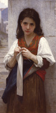 Tricoteuse Giclee Print by William Adolphe Bouguereau