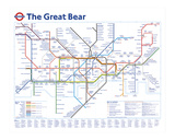 Den stora björnen, engelska Gicléetryck av Simon Patterson