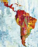 Latin America Map Reproduction procédé giclée par Paul Duncan