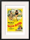 HELLO ALOHA, top and bottom: Goofy on poster art, 1952. Prints