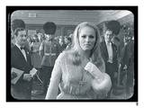 Ursula Andress Black & White Giclee Print by  British Pathe