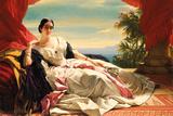 Portrait of Leonilla, Princess of Sayn-Wittgenstein-Sayn, 1843 Giclee Print by Franz Xaver Winterhalter
