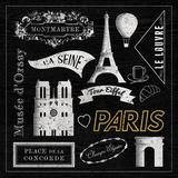Sightseeing in Paris Art by Tom Frazier